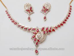 ruby diamonds necklace images Ruby diamond gold necklace set buy exclusive marquise cut ruby jpg