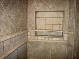 bathroom awesome tiled showers with shower nooks and chair rails