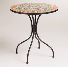 Mosaic Bistro Table Furniture Awesome Floral Pattern Mosaic Bistro Table Enticing
