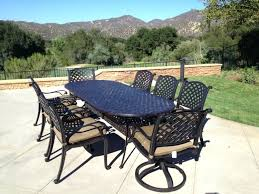 oval patio table cast aluminum powder coated outdoor set with