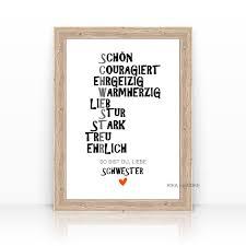 sprüche schwester zeit raum sprücheposter kunstdrucke poster mit motivatonen