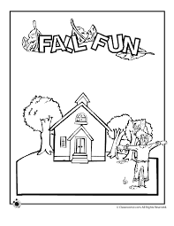 coloring page school school coloring page fall woo jr activities