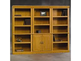 Sauder Harbor View Bookcase by Sauder Orchard Hills 3 Pc Wall Of Bookcases Coconis Furniture