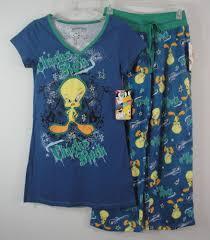 halloween pajamas womens tweety bird sleepwear dorm shirt long top u0026 lounge pants pajamas