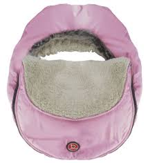 Light Pink Car Kushies Blue Banana Bubble In Light Pink Car Seat Accessory