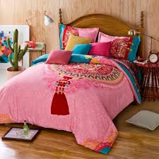 Pink Full Size Comforter Bohemian Bedding Twin Queen Design Bohemian Bedding Twin Popular