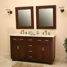 aber 60 inch antique double sink bathroom vanity mahogany finish
