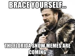 Florida Winter Meme - brace yourself the florida snow memes are coming winter is