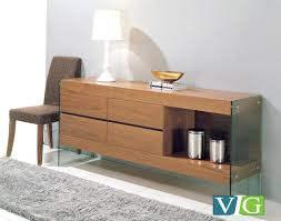 modrest aura modern walnut buffet buffets dining room