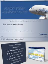 golden rules airbus aircraft