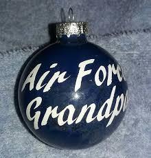 christmas ornament air force grandpa