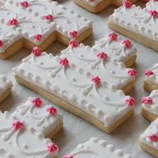 wedding cake cookies wedding cake cookie favors bakeshop