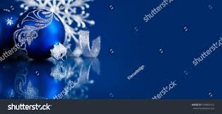 background silver blue ornaments on stock photo