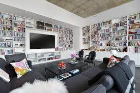 modern home library interior design 12 living room ideas for a grey sectional hgtv u0027s decorating