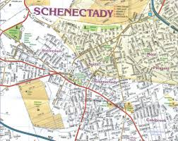 Nys Map Schenectady New York Map New York Map