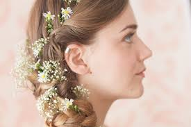 flower hair wedding hair flowers gypsophila beautiful gypsophila hair wreath