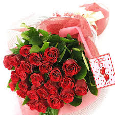 valentines roses greeting flower faster