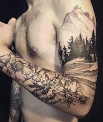 tree silhouette tattoos