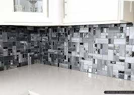 modern backsplash tiles for kitchen metal and glass tile black glass aluminum metal mixed modern