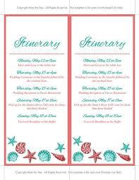 wedding itinerary template wedding itinerary template free