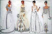 vogue wedding dress patterns vogue 2716 sew pattern badgley mischka bridal wedding column dress