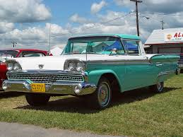 ranchero car 1959 ford ranchero green u0026 white front angle