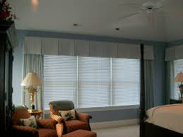 box pleated valance over silk sheers