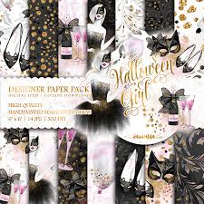 halloween party planner halloween party paper pack cute planner watercolor fashion