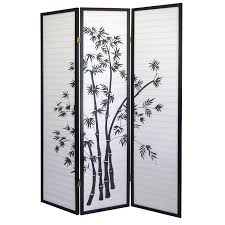 home decor amazon com new 3 panel room divider bamboo shoji