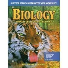 Holt Biology Worksheet Answers 0030543614 Biology Principles And Explorations Directed Reading