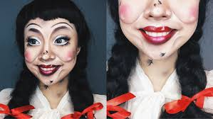 get the look conjuring annabelle doll makeup tutorial collab
