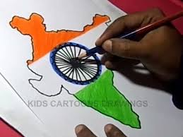 how to draw indian flag detailed color drawing step by step for