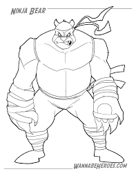 wannabe heroes ninja bear coloring contest