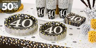 40th birthday decorations sparkling celebration 40th birthday party supplies party city