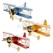 airplane home decor aliexpress com buy vintage metal airplane model biplane military