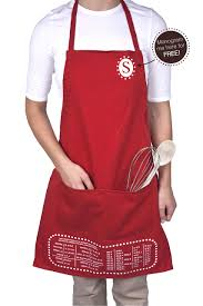 personalized baking apron with measurement conversions