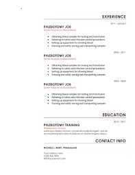 Resume Templates To Download For Free Download 10 Professional Phlebotomy Resumes Templates Free