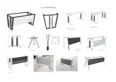 U Shaped Table Legs Office Desk Legs U Shaped Silver Finish Metal Steel Table