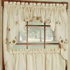 Sheer Curtains With Valance Decoration Large Kitchen Window Curtains 24 Inch Sheer Curtains