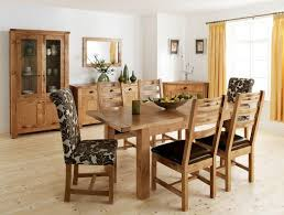 solid oak dining table as a glamorous oak dining room furniture