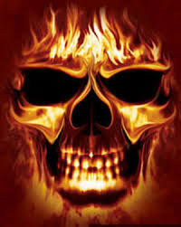 skulls flames cool graphic