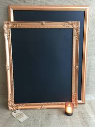 large copper rose gold chalk board copper blackboard framed