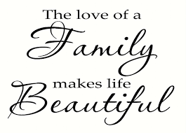 love family makes life beautiful wall sticker decals saying