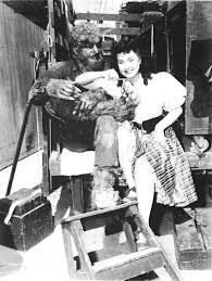 lon chaney jr and elena verdugo behind the scenes house of