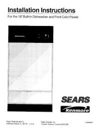 Hotpoint Dishwasher Manual 587 14249991 Kenmore 18 Inch Built In Dishwasher Install Instructions