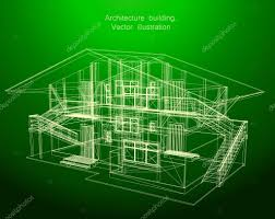 architecture blueprint of a green house u2014 stock vector emaria