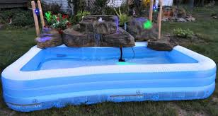 pools with waterfalls artificial rock waterfalls for above ground swimming pools