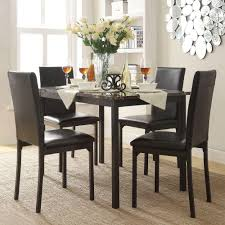 chair black glass v shape dining table with 6 chairs marble and