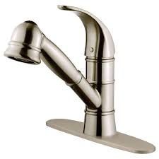 Kitchen Faucet Single Hole Kitchen Elegant Brushed Nickel Kitchen Faucet For Your Kitchen