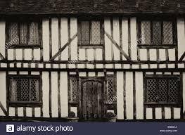 english half timbered black and white tudor houses from lavenham